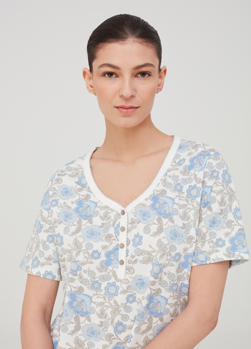 100% cotton floral nightshirt image number null