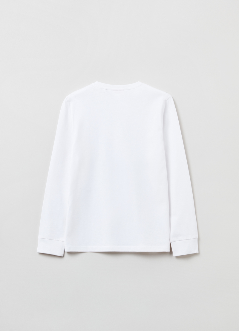 T-shirt a maniche lunghe in cotone image number null
