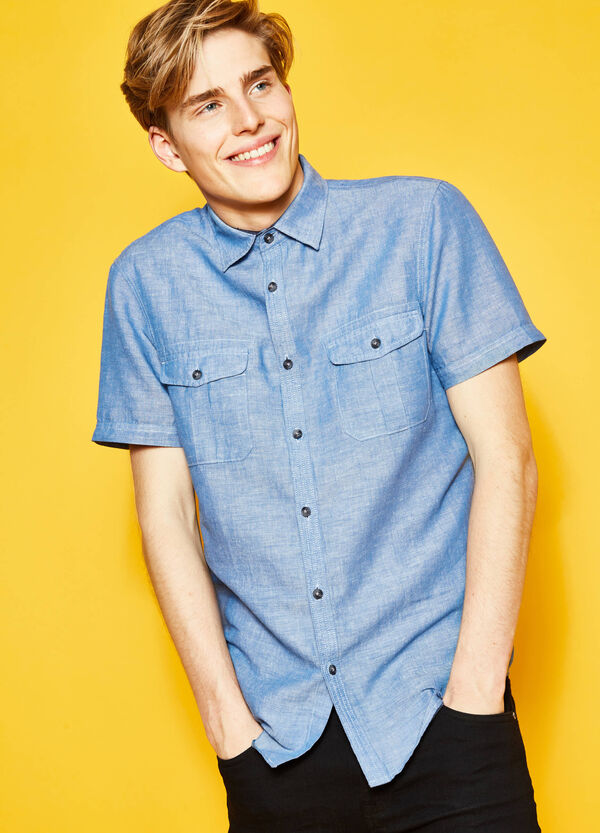 Casual regular-fit shirt with pockets | OVS