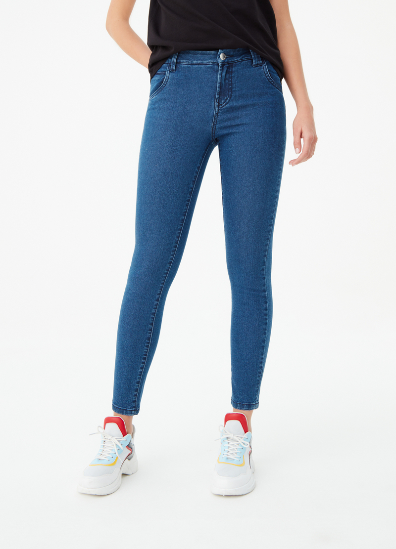 Jeans basic skinny fit cinque tasche image number null