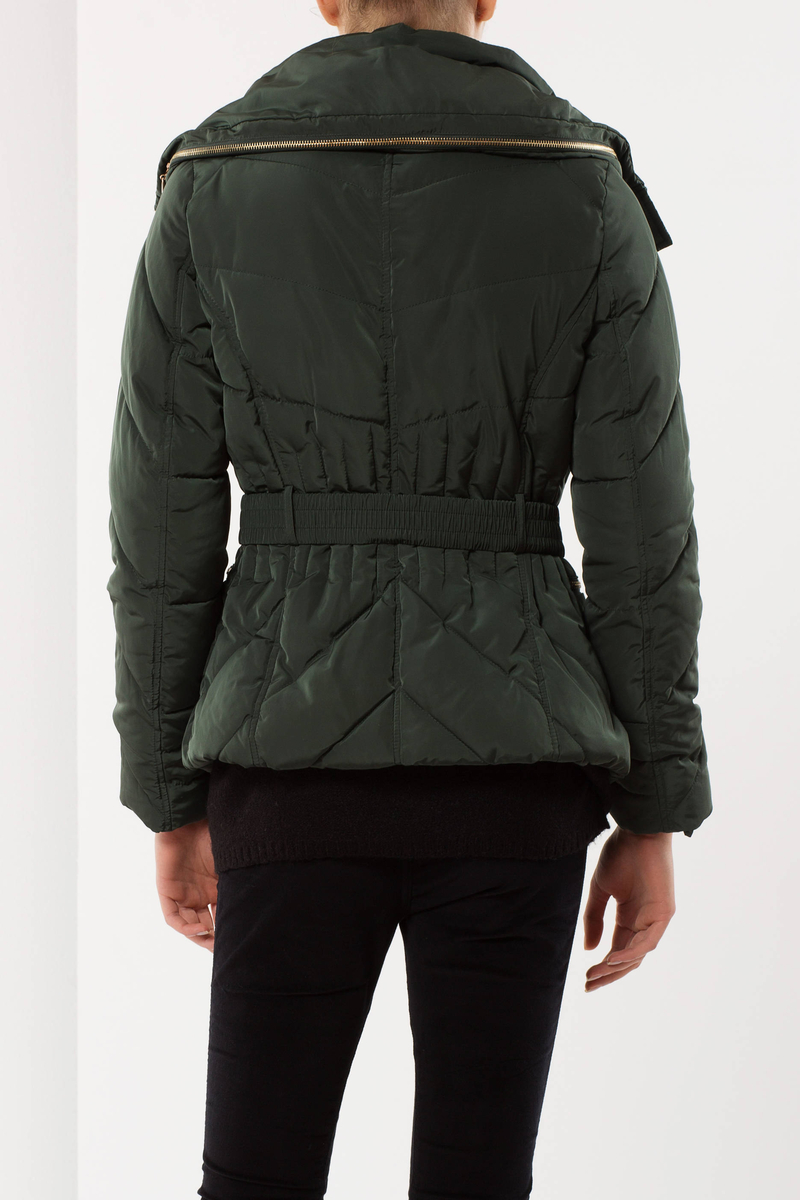 High neck puffa jacket image number null