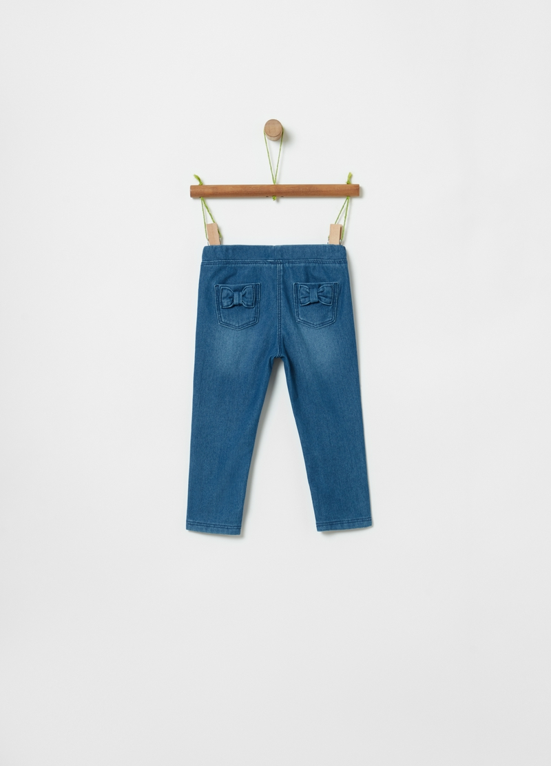 Jeggings stretch con fiocchetto image number null