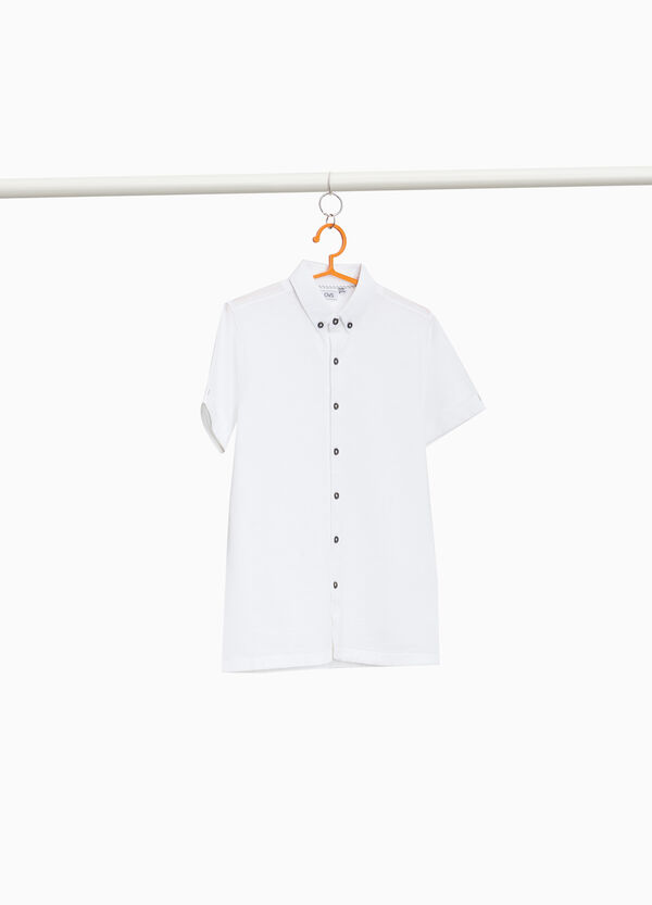 100% cotton piquet shirt