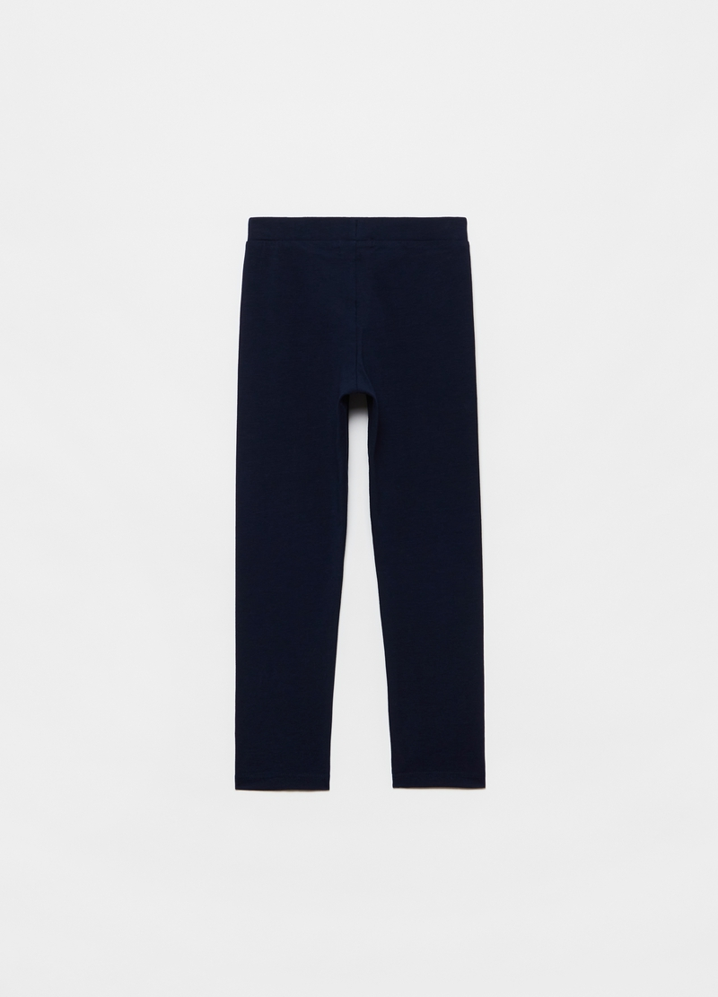 Leggings in cotone stretch image number null