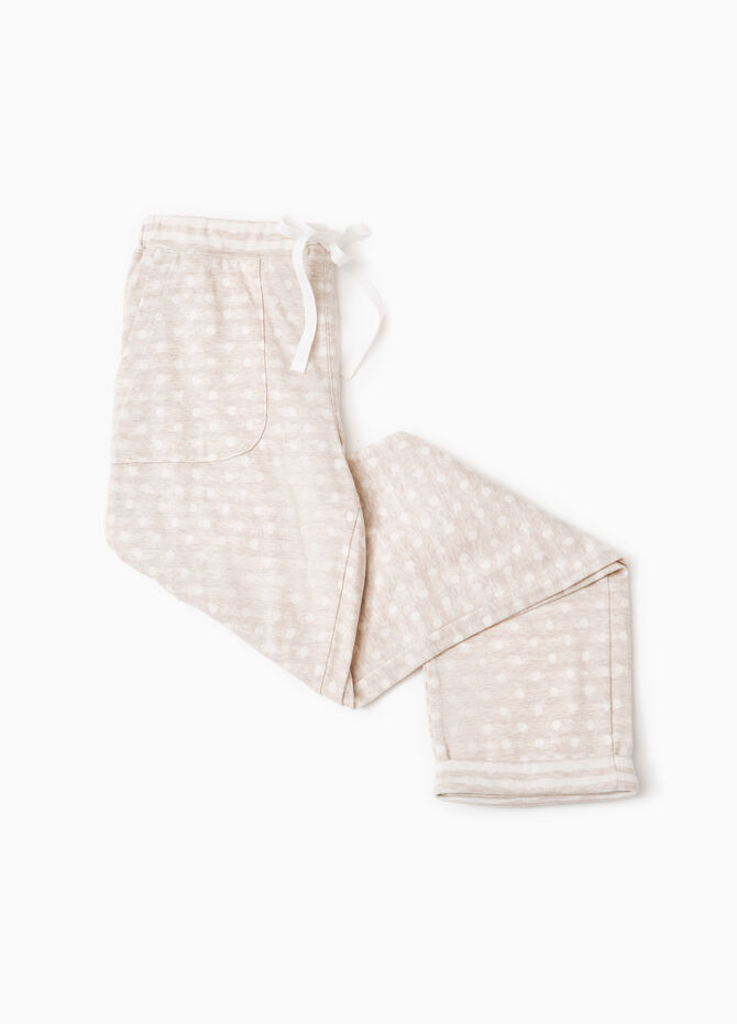 Polka dot pyjama trousers in cotton