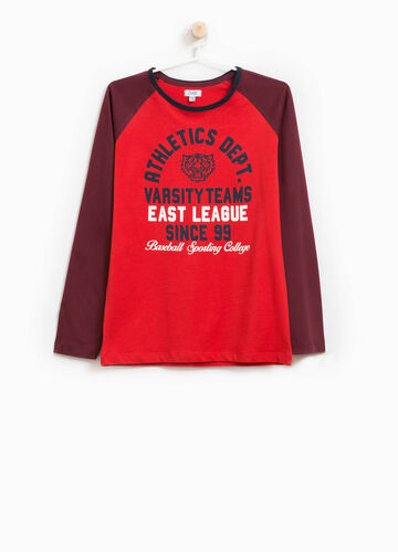 T-shirt cotone stampa lettering