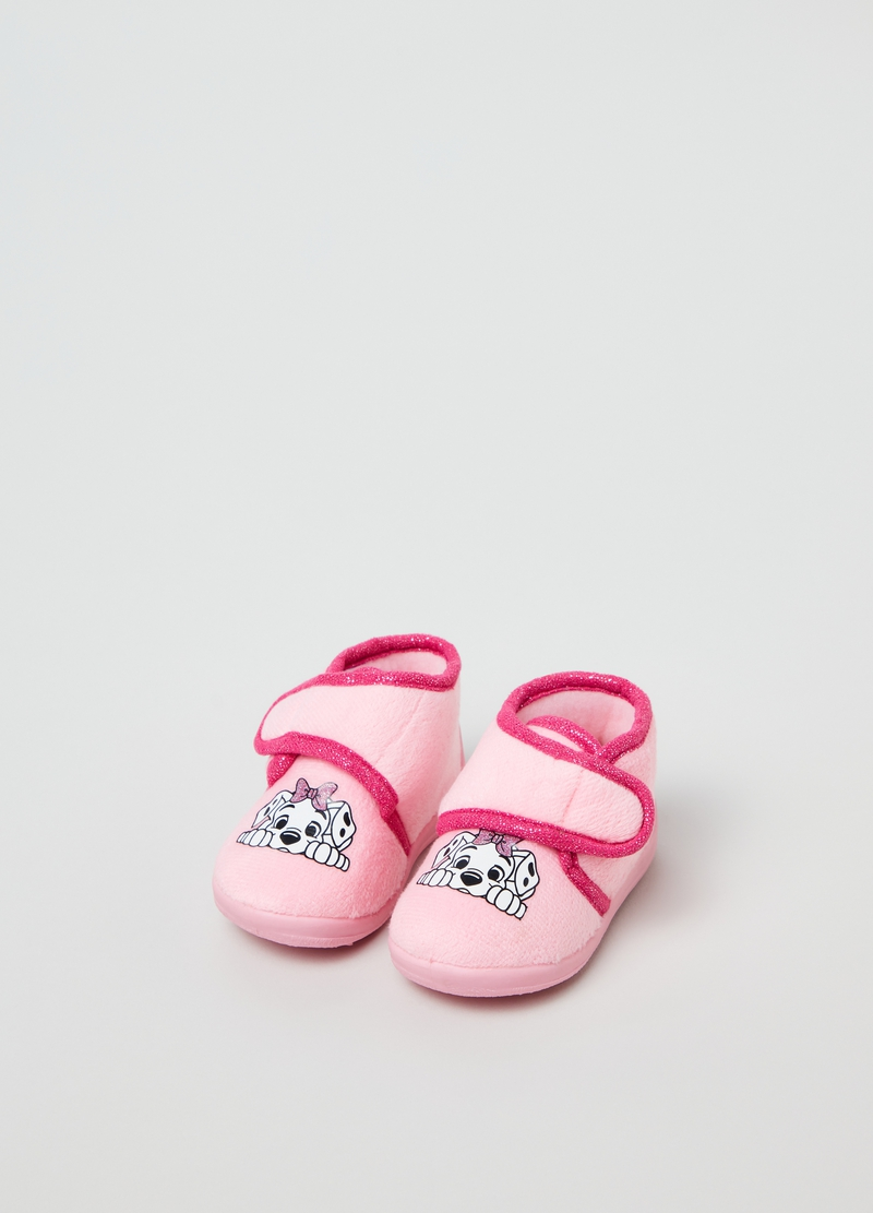 Disney Baby velour slippers image number null