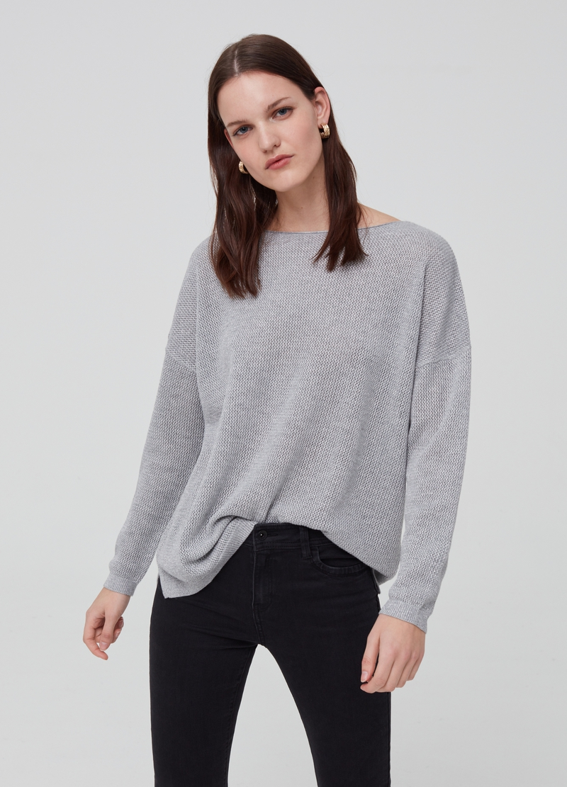 Oversized top with lurex image number null