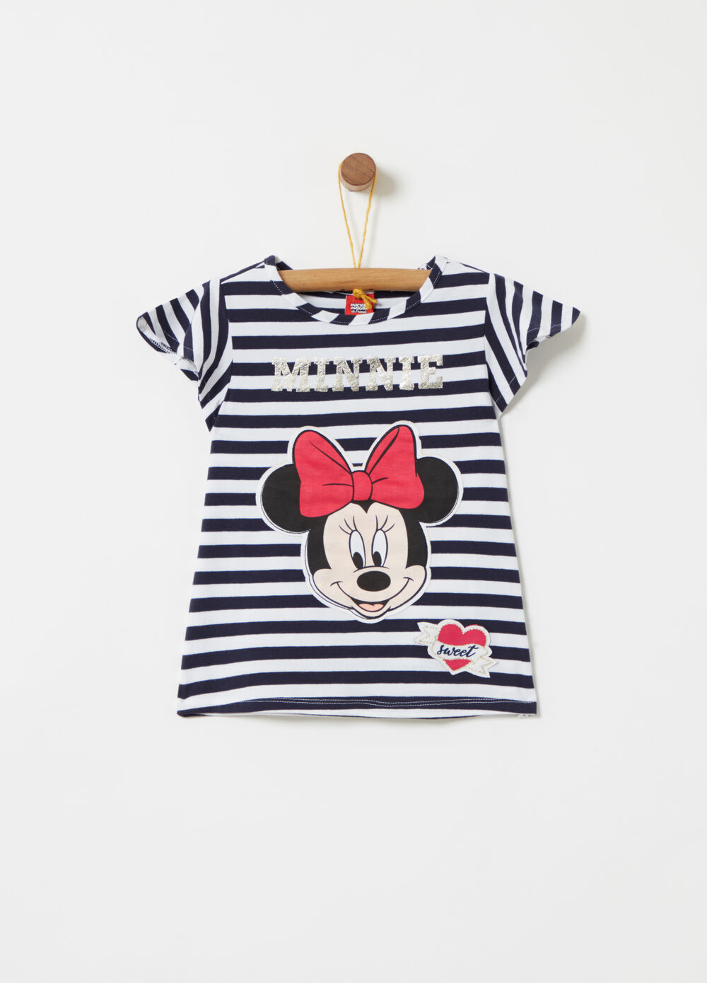 T-shirt lamina oro Disney Minnie