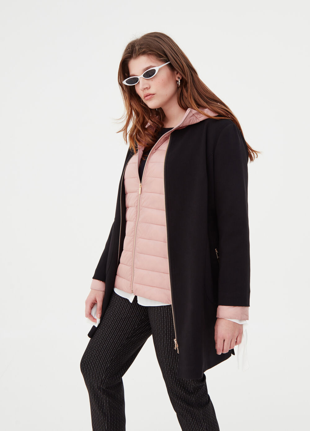 Curvy coat with splits