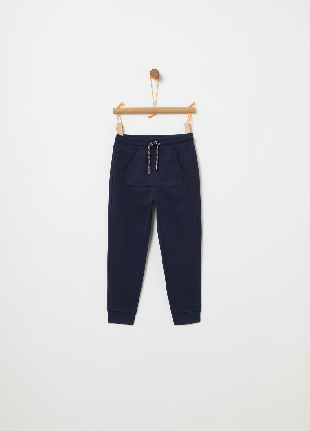 BCI cotton fleece trousers with pocket