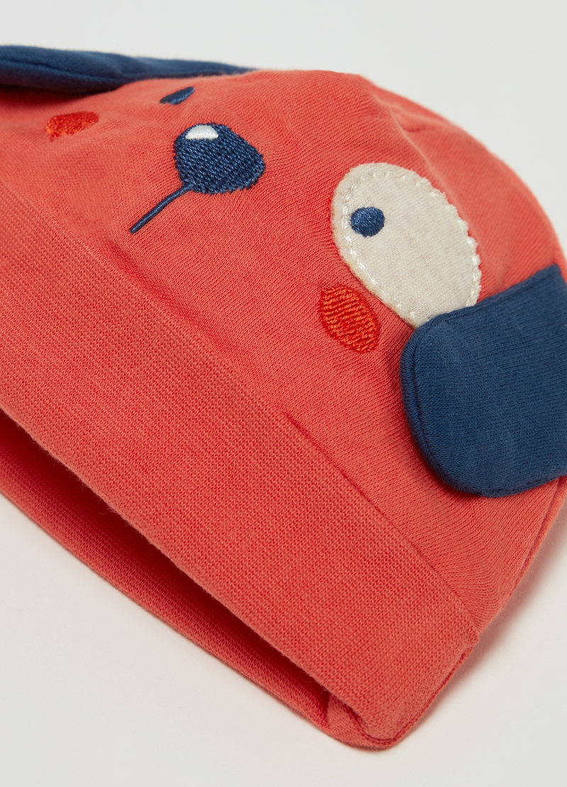 Beret in biocotton with ears image number null