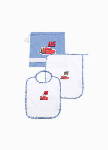 Cotton blend kindergarten set with Cars patch