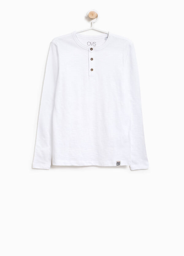 Polo shirt with long sleeves and patch | OVS