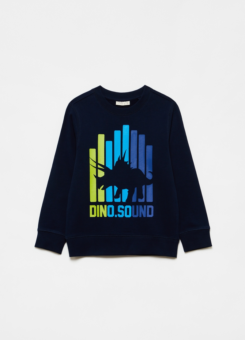 Sweatshirt in 100% cotton with dinosaur print image number null