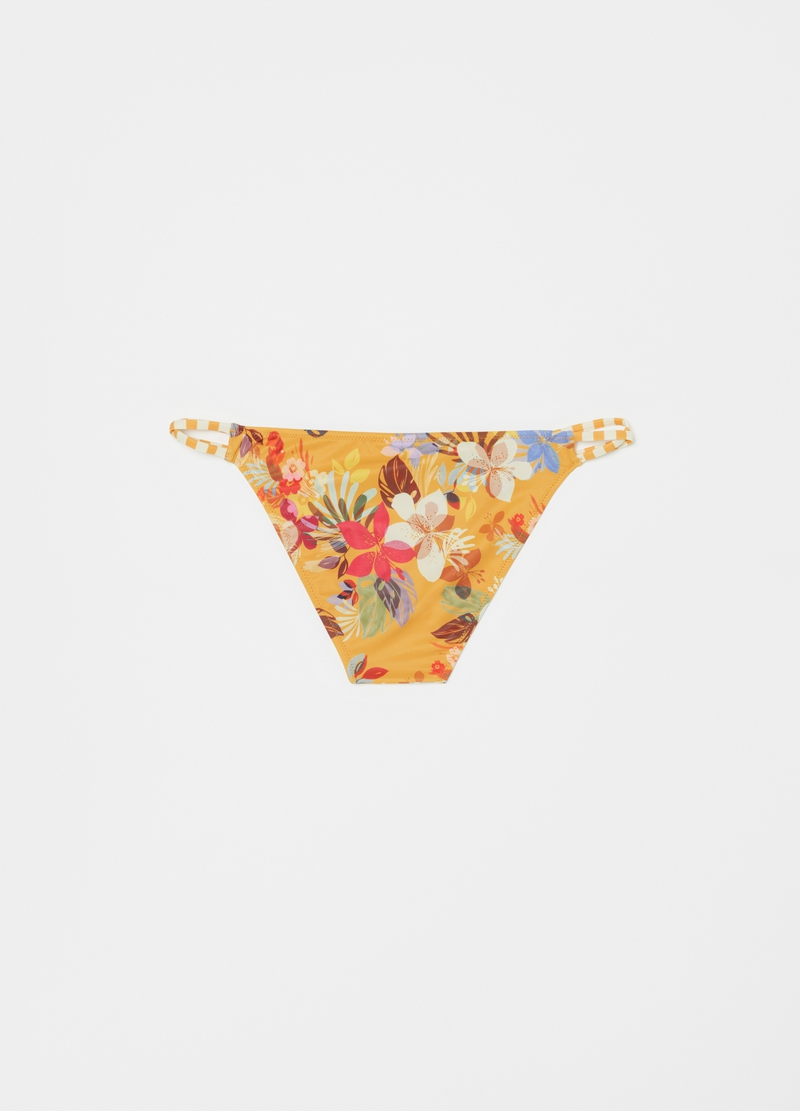 Crossover bikini briefs with pattern image number null