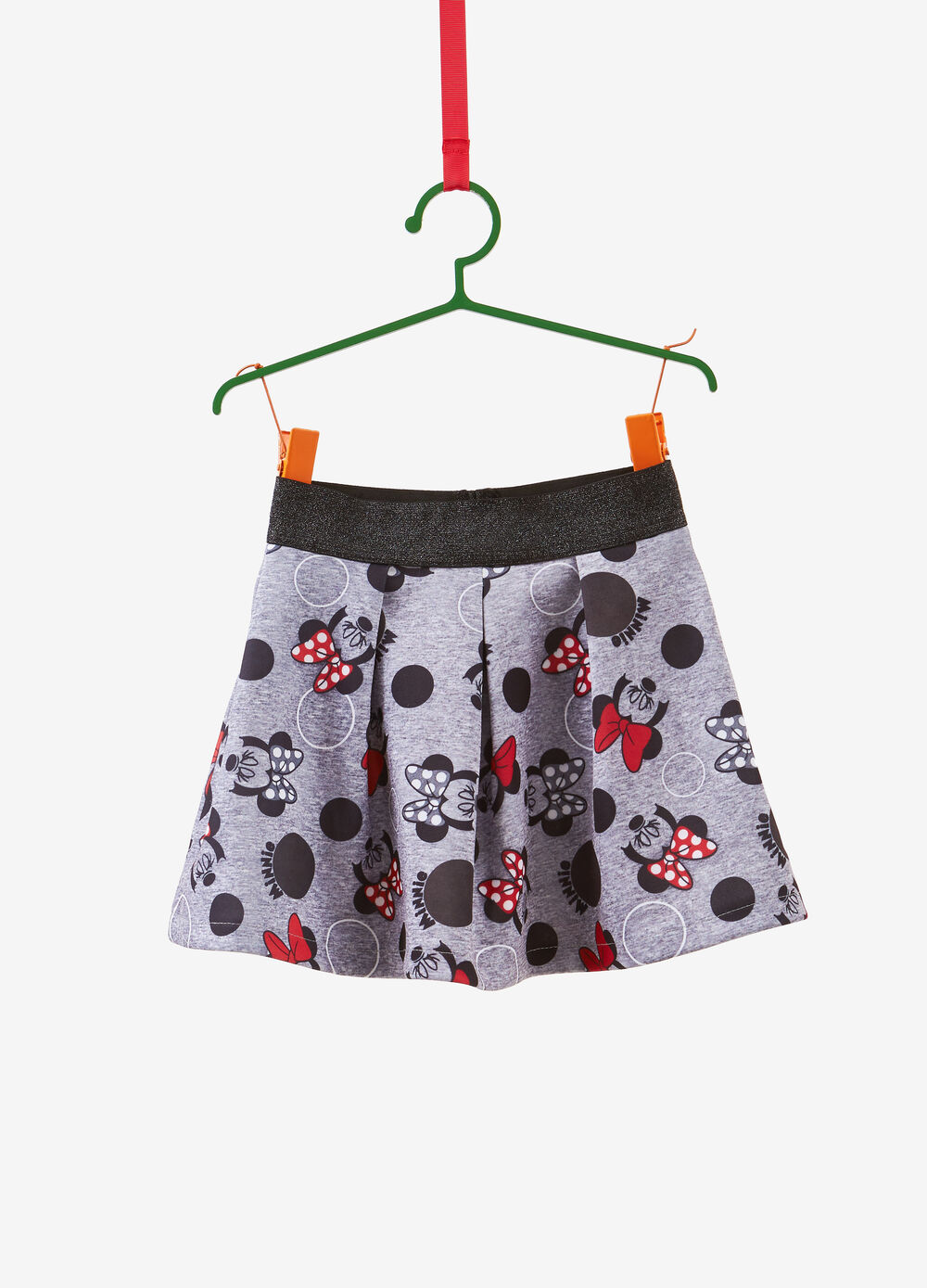 Stretch skirt with Minnie Mouse pattern