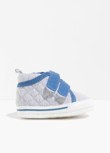 Quilted sneakers with trim