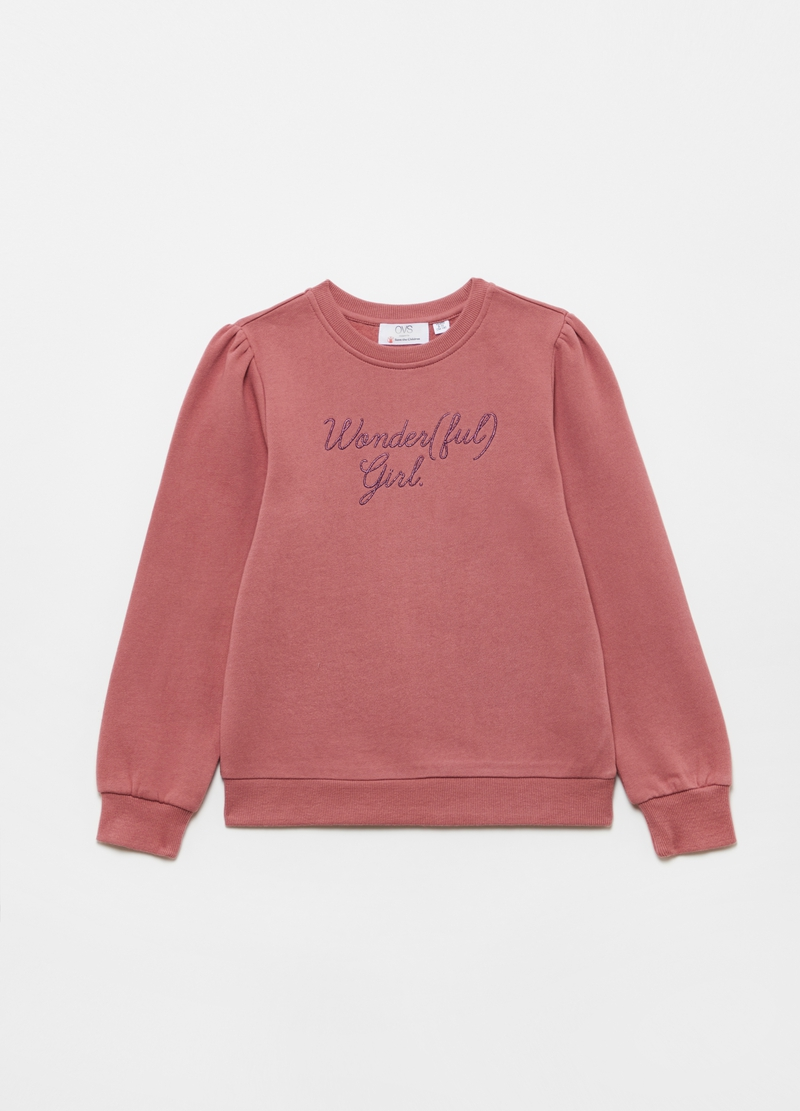 Wonder(ful) Girl sweatshirt in 100% cotton image number null