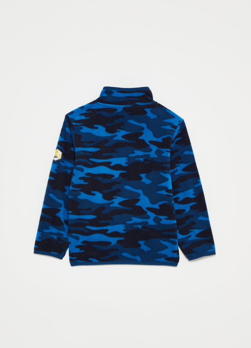 Full-zip in pile riciclato camouflage image number null
