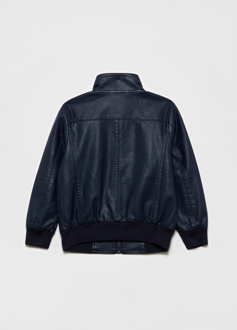 Full-zip bomber jacket with high neck image number null