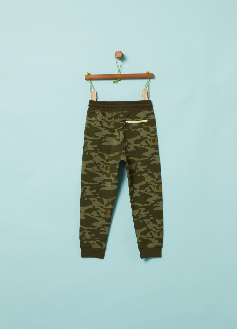 Jogger in French Terry camouflage image number null