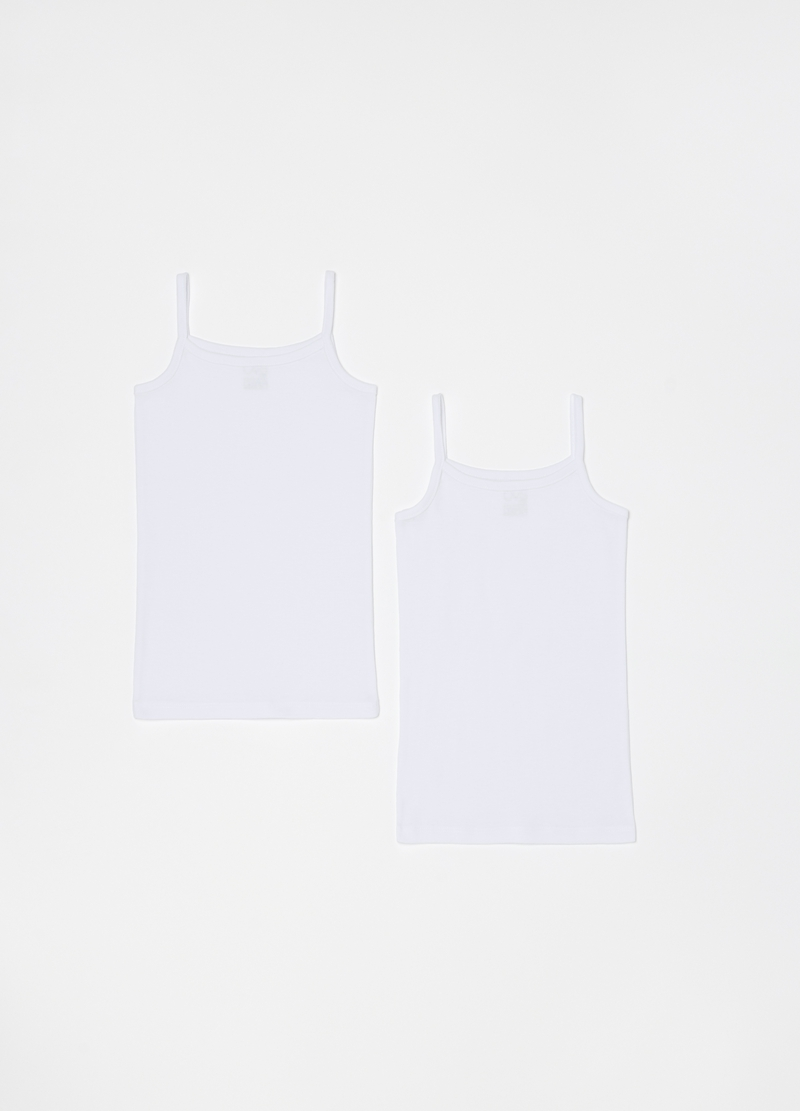 Two-pack 100% organic cotton under vests image number null