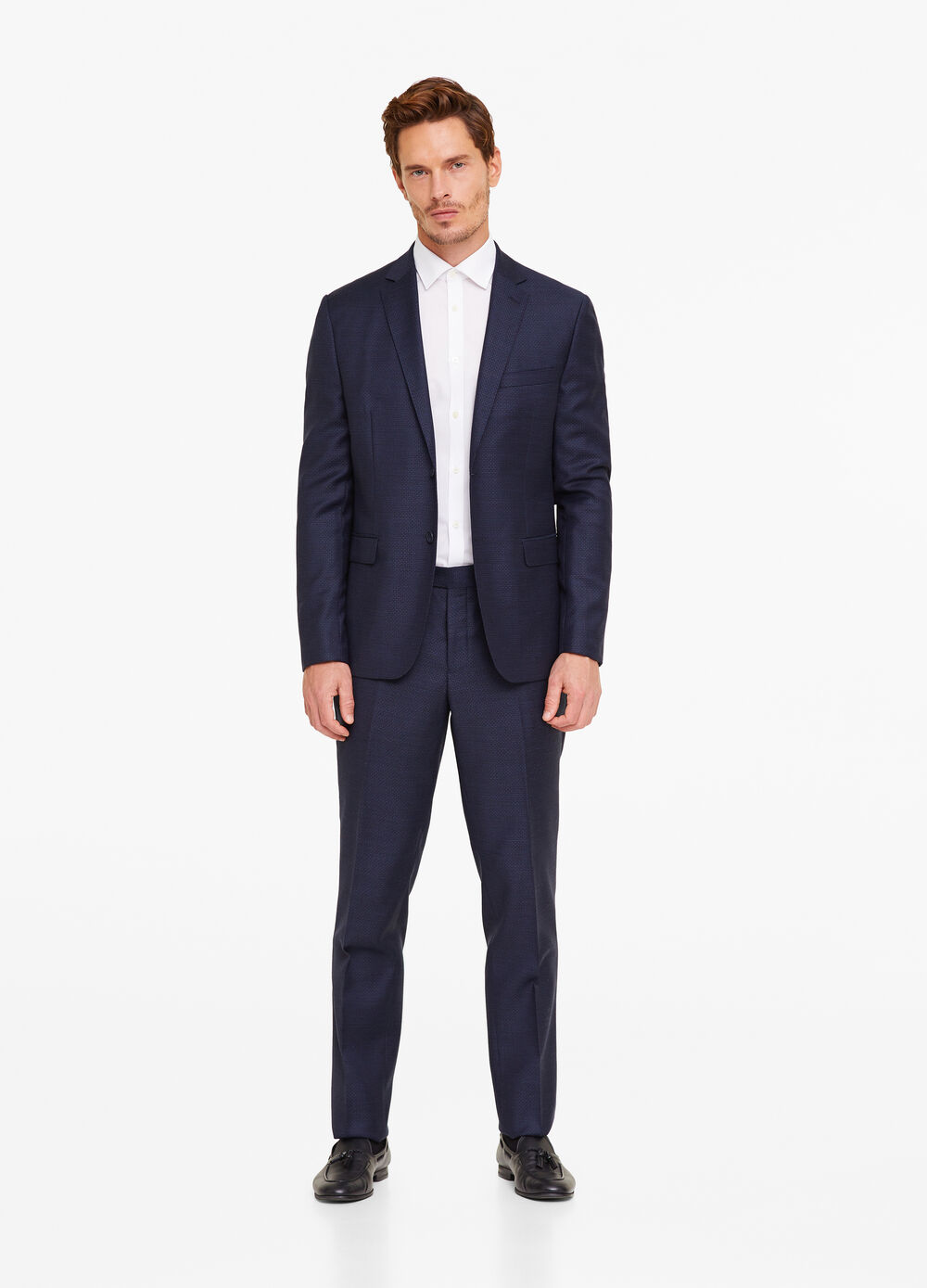 Regular fit 100% wool suit