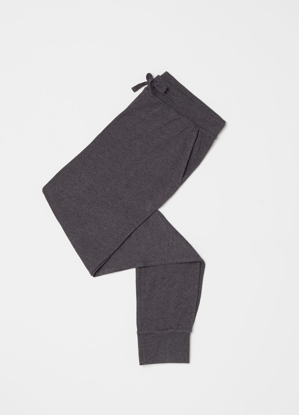Full-length homewear trousers with drawstring
