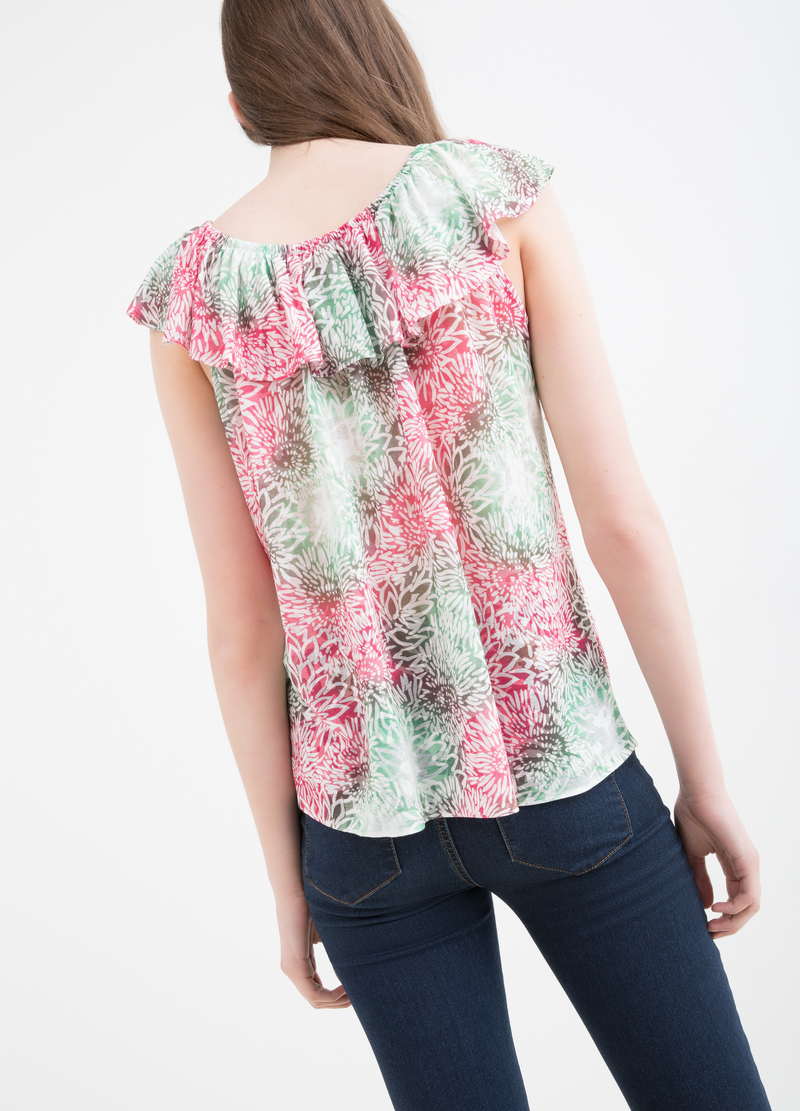 Printed viscose blend top image number null