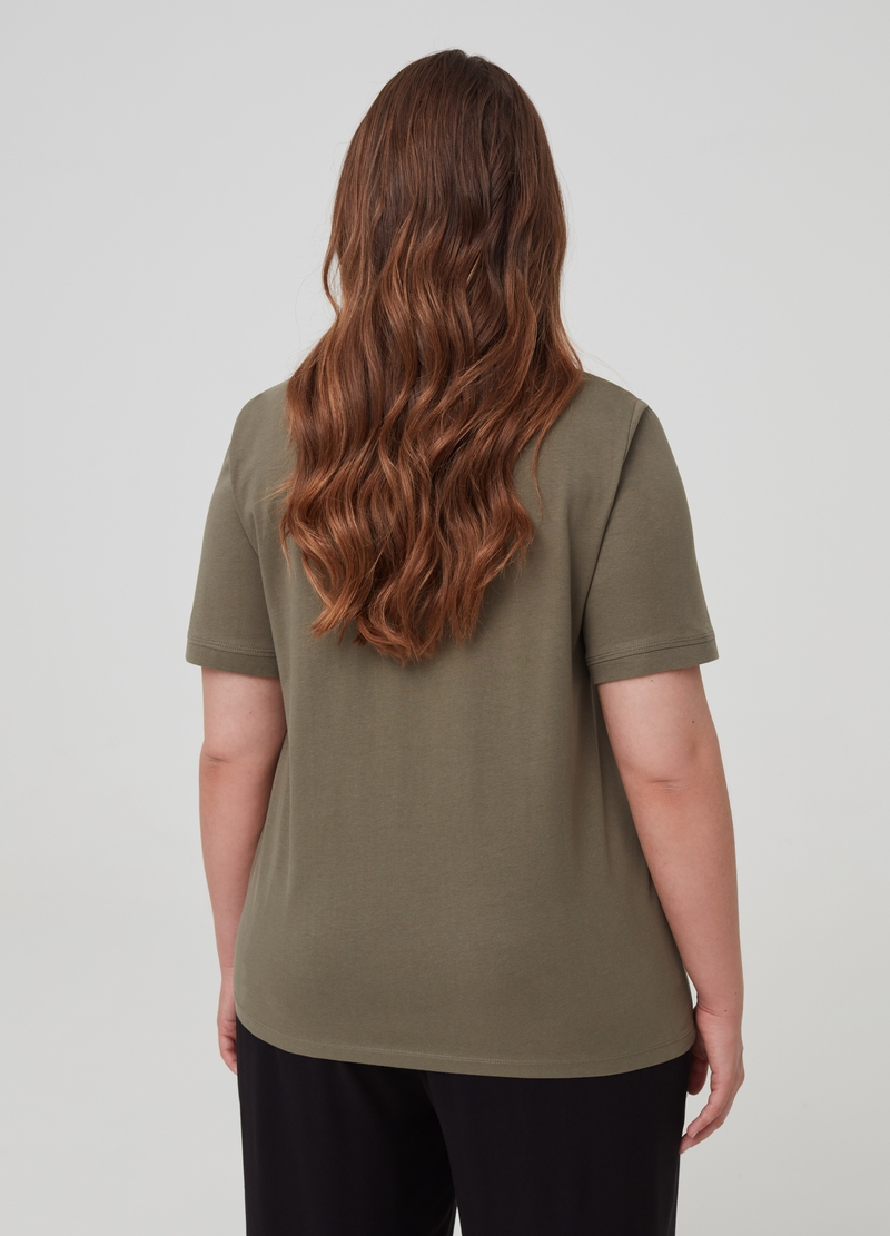 Curvy T-shirt 100% organic cotton image number null