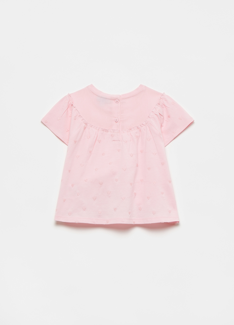 100% cotton T-shirt with small hearts image number null