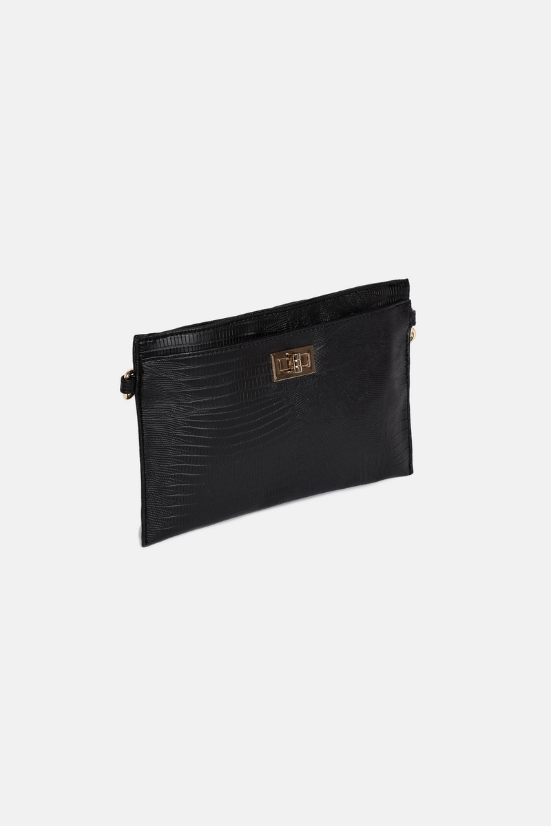 Imitation leather clutch bag image number null