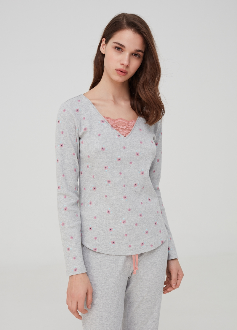 Cotton and viscose long pyjamas image number null