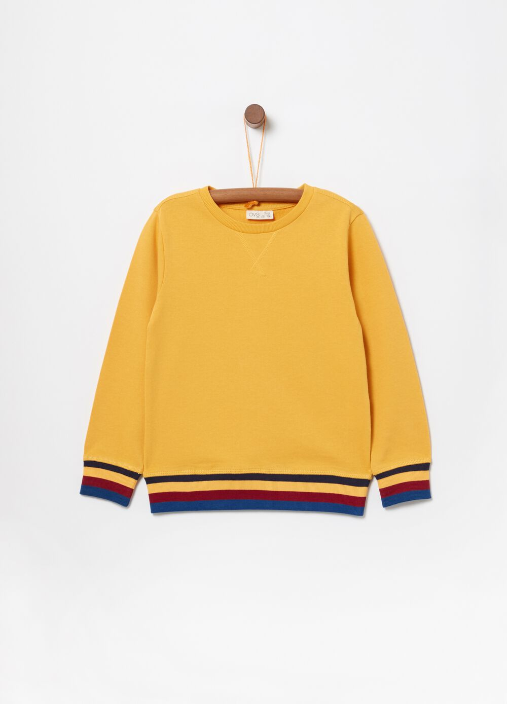 100% cotton sweatshirt with striped print
