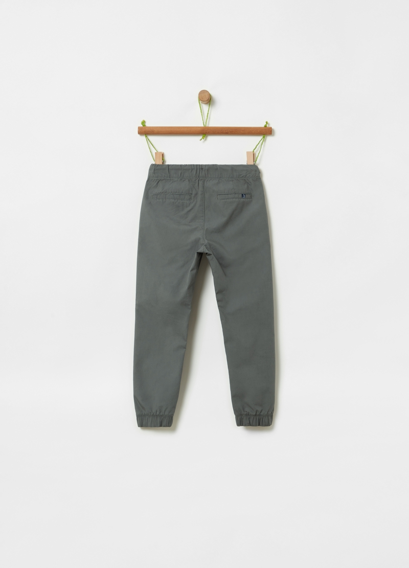 100% cotton joggers with drawstring image number null