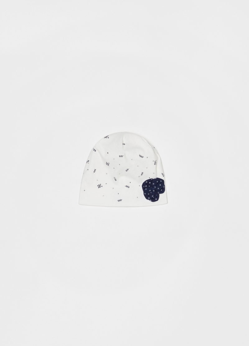 Stretch hat with diamantés and bow image number null