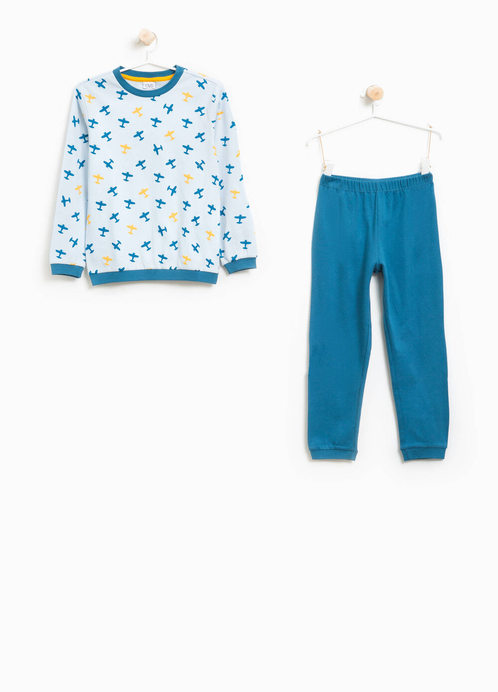 Organic cotton pyjamas with pattern