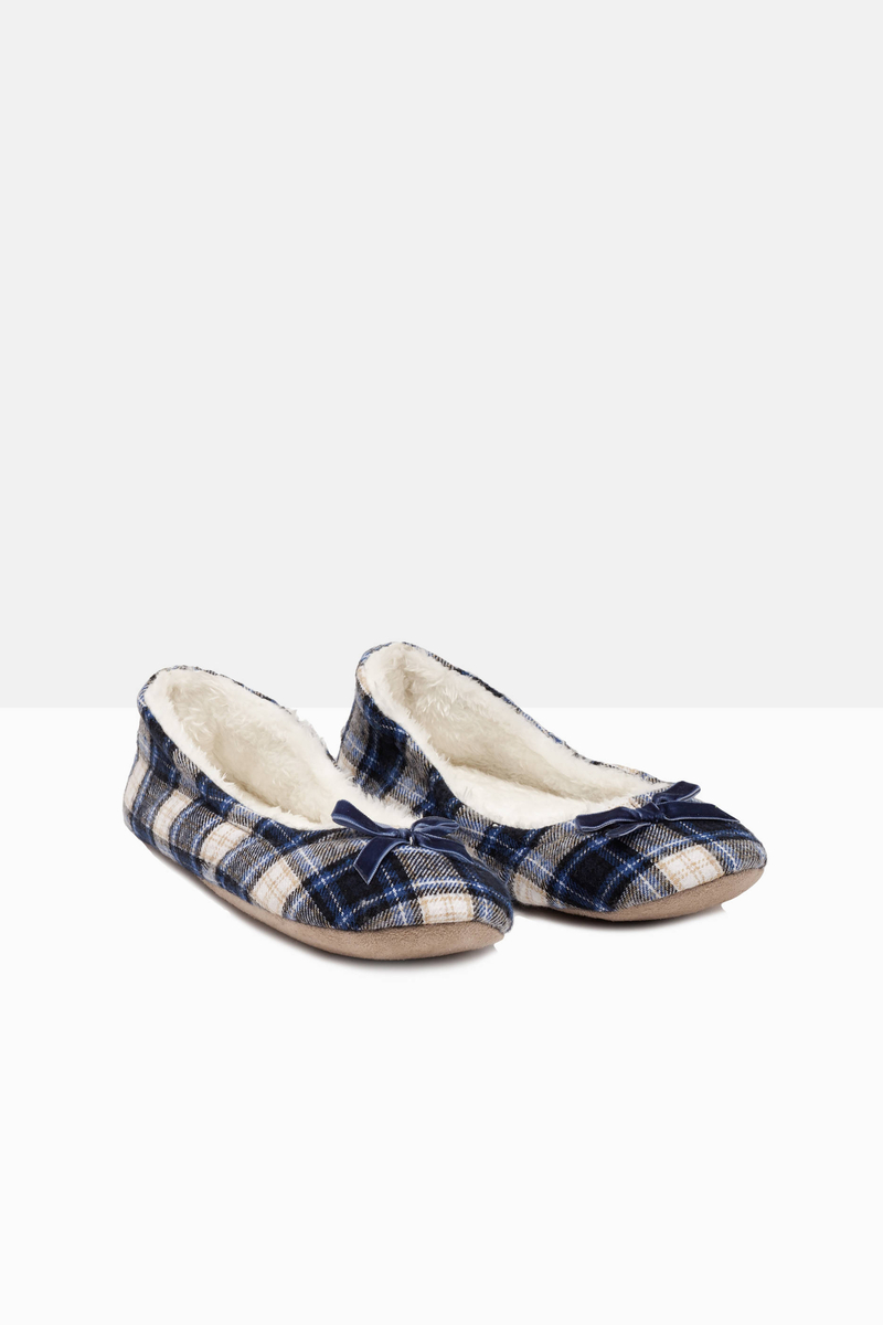 Ballerina flat slippers with fur image number null