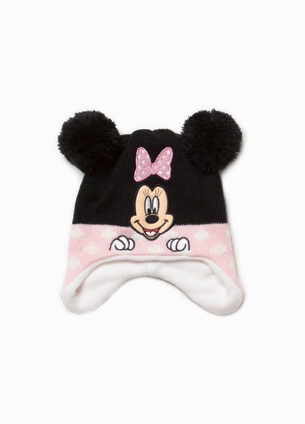 Beanie cap with pompom and patch | OVS