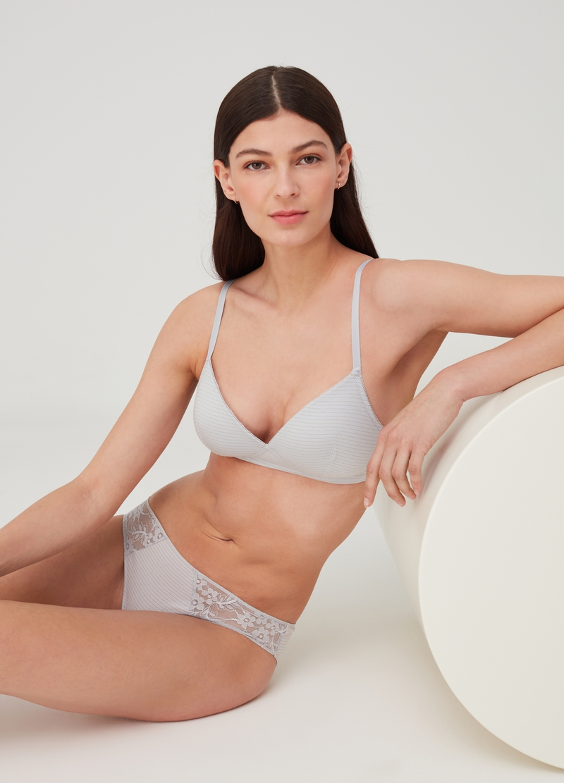 Semi-padded triangle bra - Natural effect image number null