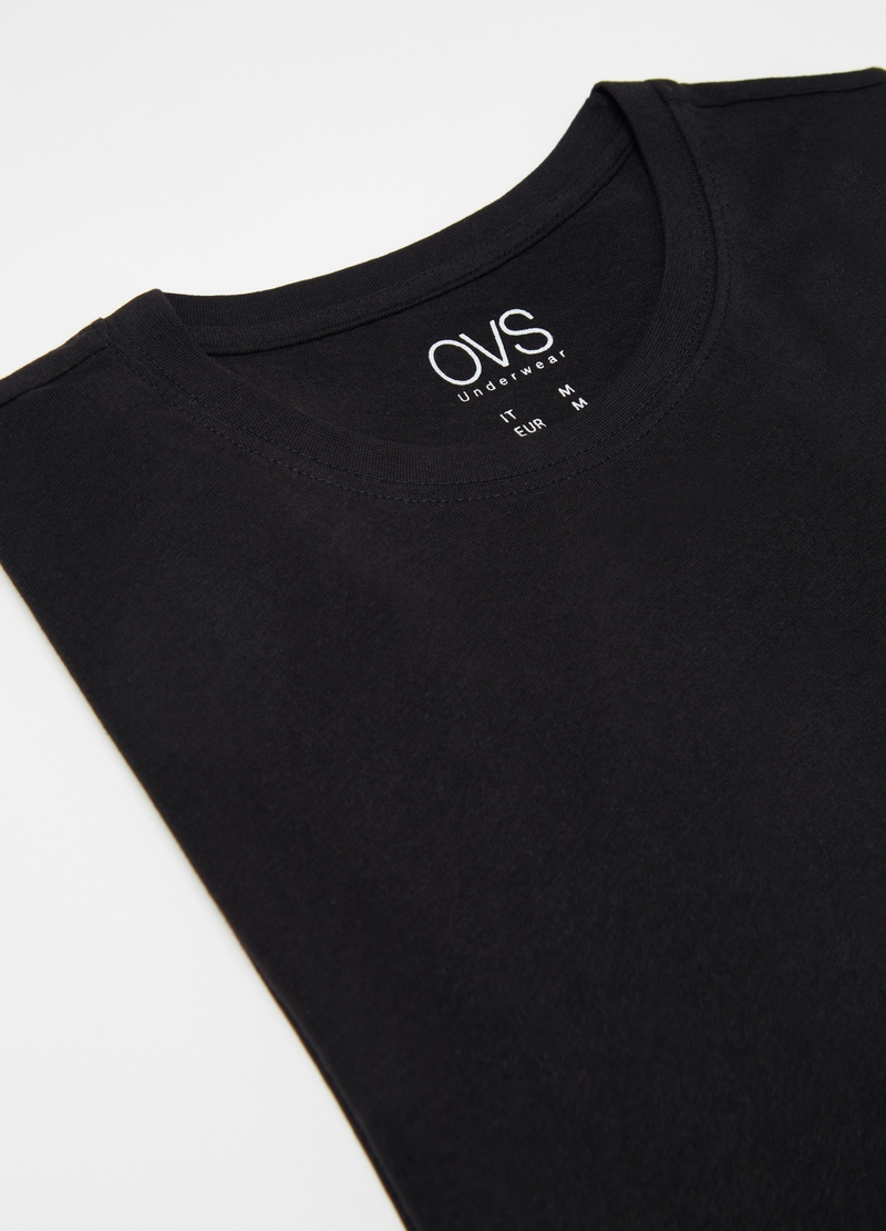 Undershirt with round neckline image number null
