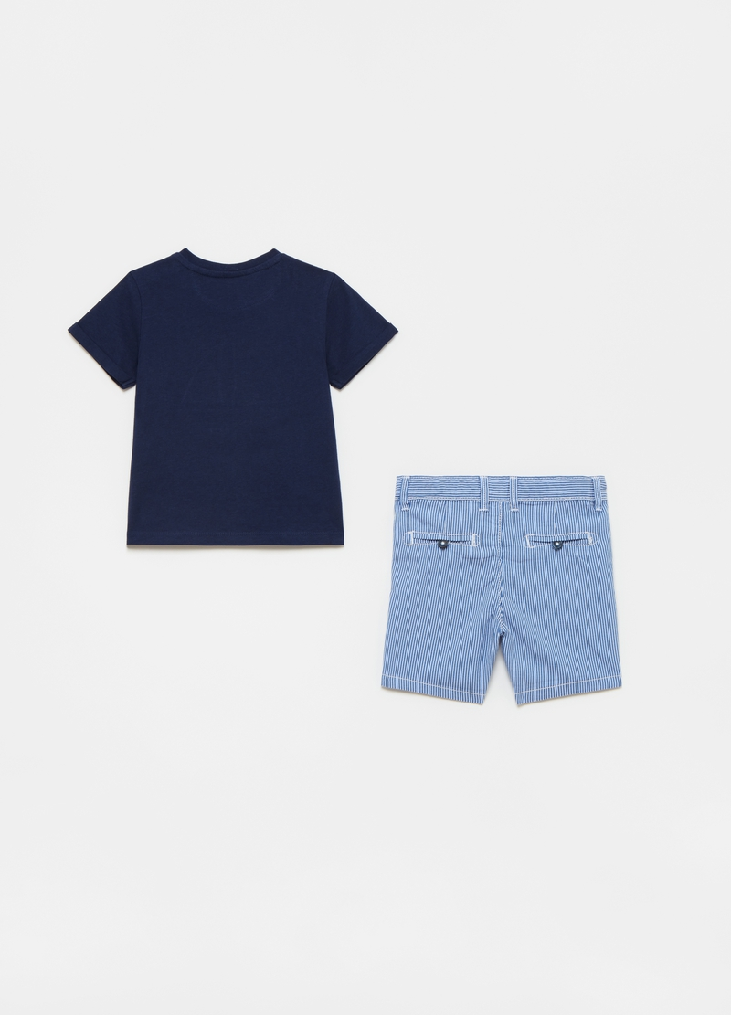 T-shirt with patch pocket and shorts set image number null