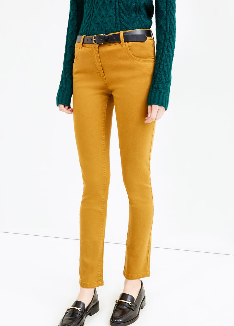Stretch cotton and viscose trousers image number null