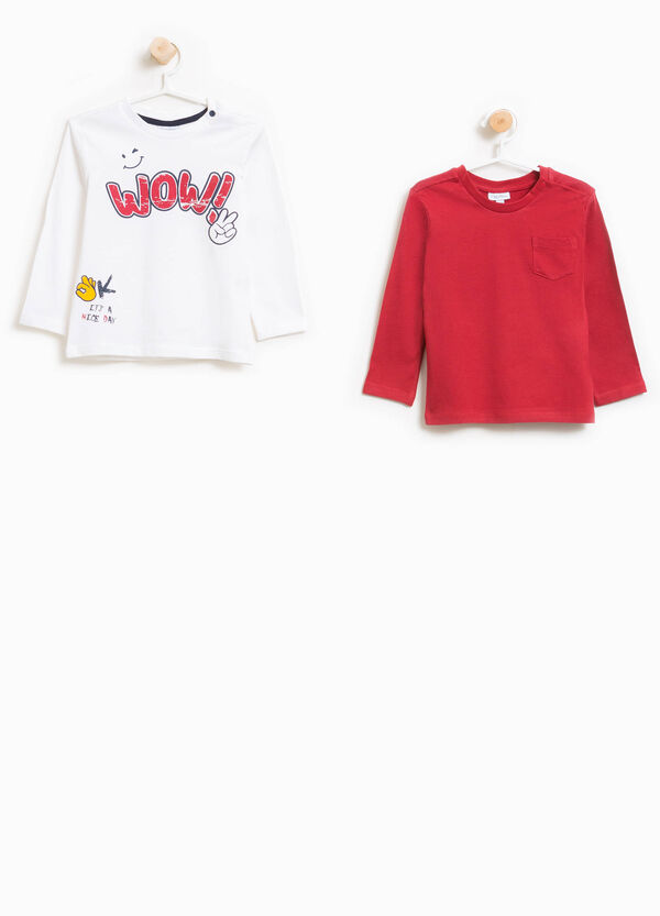 Two-pack T-shirts with print and pocket | OVS