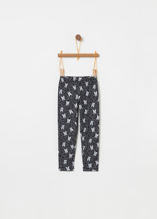 Leggings Minnie e animalier all-over
