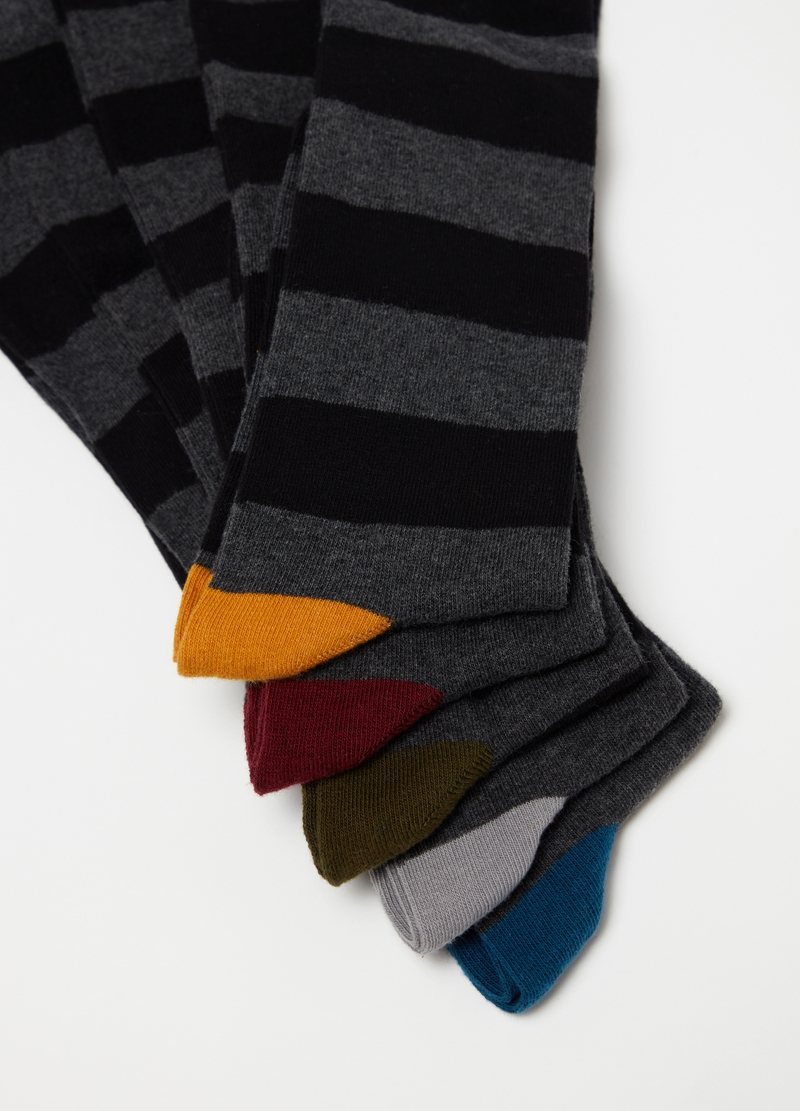 Five-pack long striped socks image number null