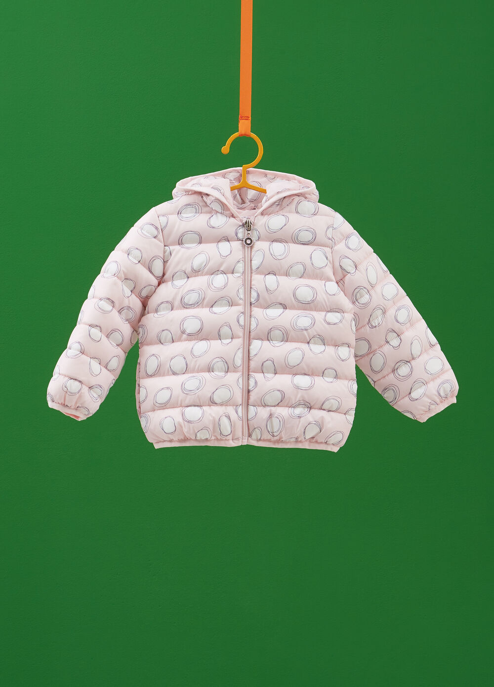 Quilted jacket with all-over print