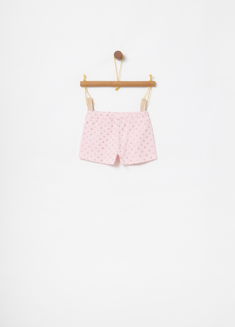 Shorts stretch stampa glitter cuori image number null