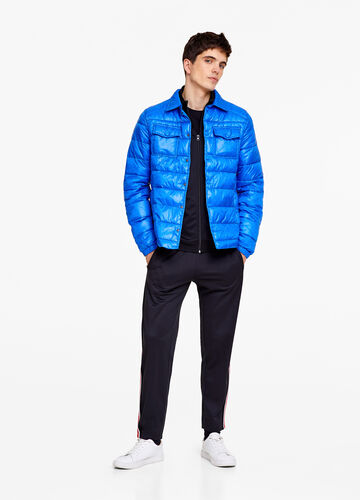 Jacket with stitching and collar